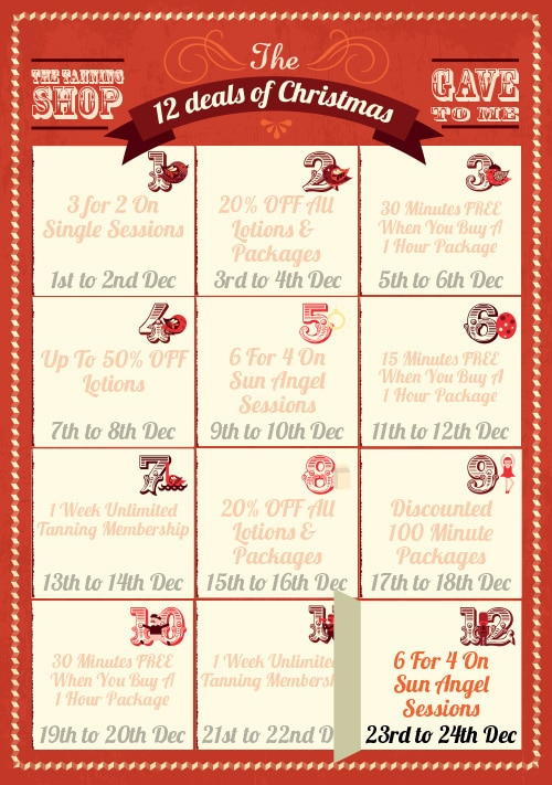 12 Deals of Christmas: Deal 12 Is Now Available! - The Tanning Shop