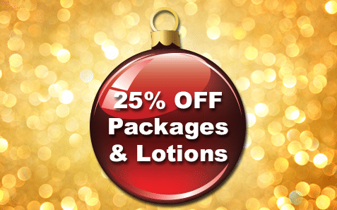 13th – 14th December25% OFF All Packages and Lotions