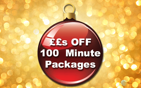 27th – 31st December££s OFF 100 Minute Packages