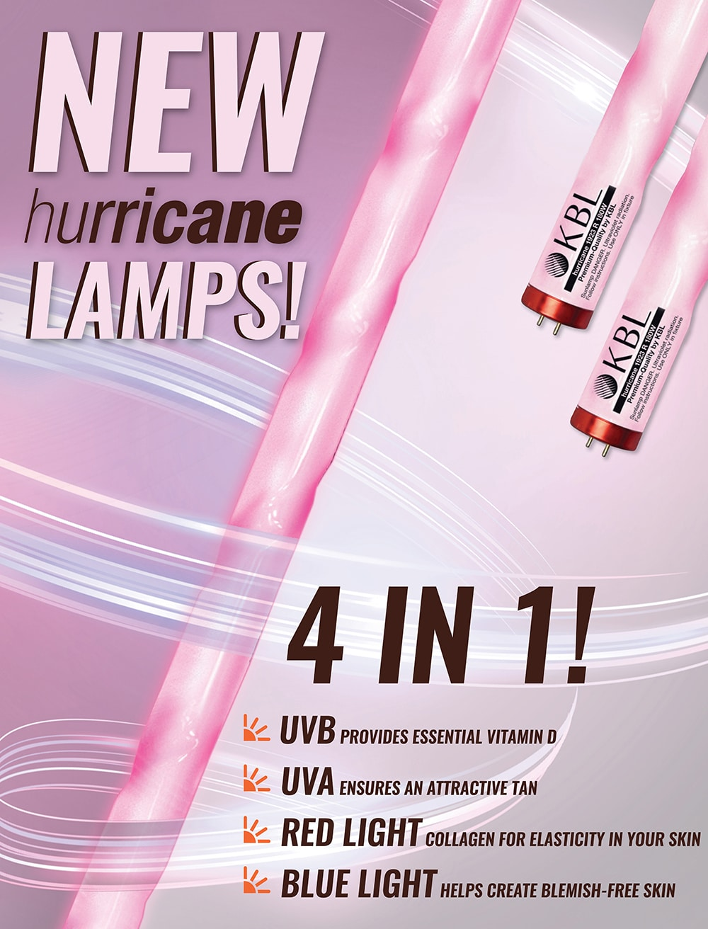 Introducing the KBL Hurricane Twist Lamps - The Tanning Shop