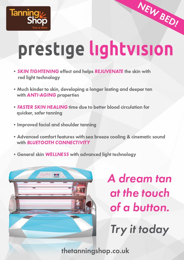New LightVision Bed Installed @ Sutton Coldfield & Lakeside - The Tanning Shop