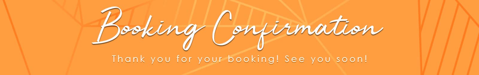 Booking Confirmation - The Tanning Shop