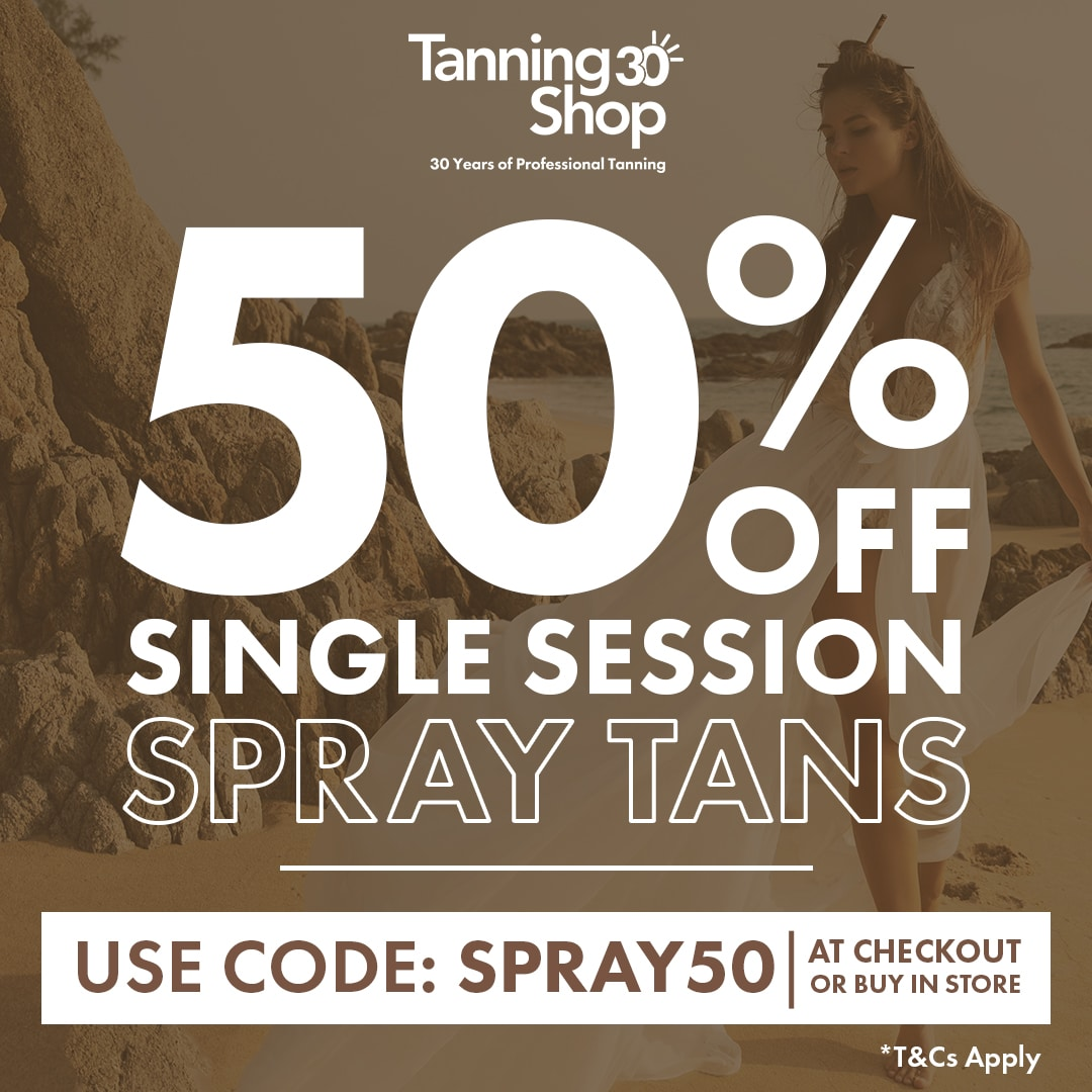 Spray Tan Single Session Discount 50% off limited time