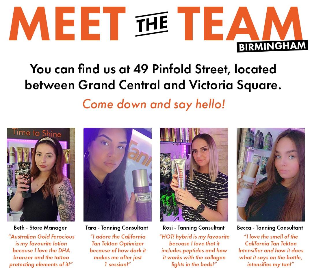 meet the team Birmingham Tanning Shop